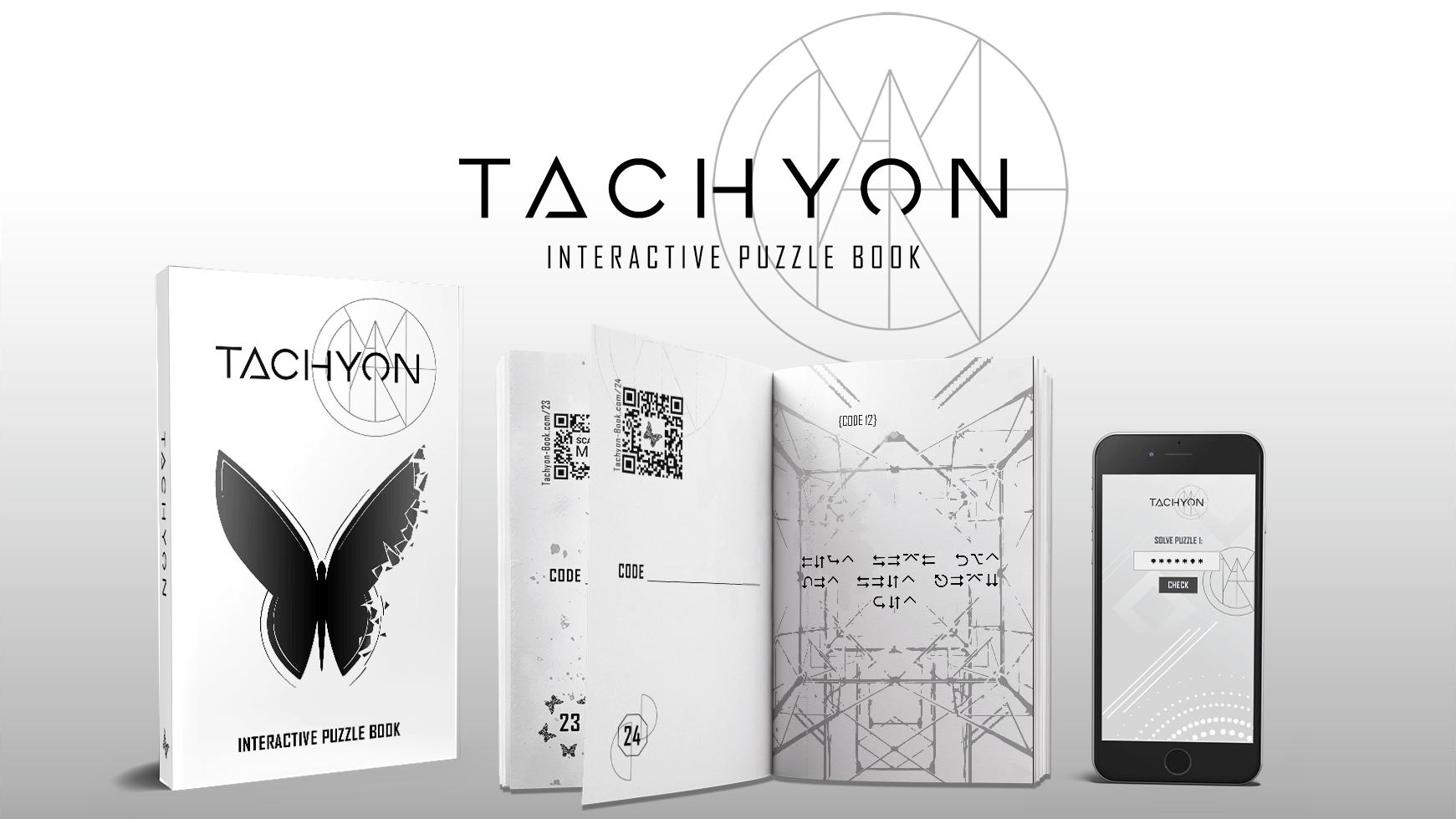 Tachyon Book, an interactive puzzle book